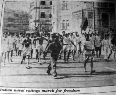Indian Naval Ratings March For Indian Independence