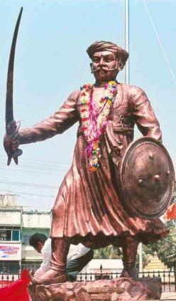 Kanhoji Angre - Statue at Alibaug