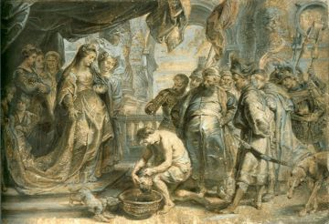 Western rendition of Tomyris with Cyrus' head - Peter Paul Rubens, 1630  | Click for image.