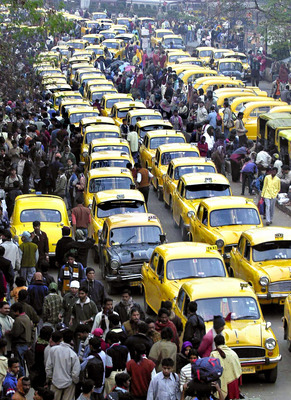 Kolkatta taxis - not much better off than Mumbai taxi-wallahs