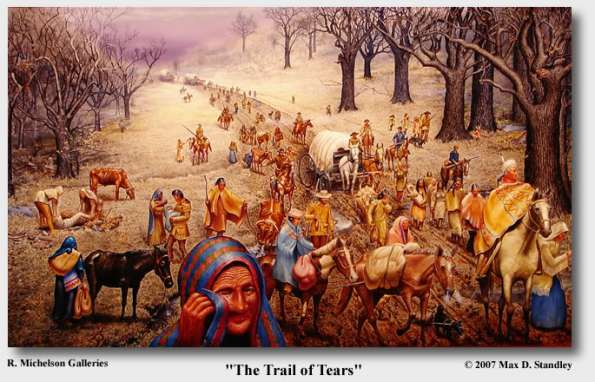 Buffalo Soldiers kill Native Americans on the Trail of Tears