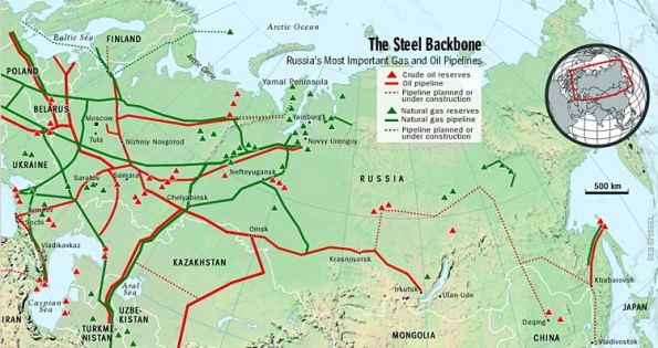Russia's mineral resources map - (Courtesy - Der Spiegel)