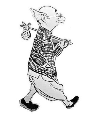 How can we ever credit this poor, vernacular, dhoti-wearing man with such 'liberalism'? (Cartoon character - RK Laxman's Common Man).