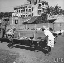 Bodies were disposed as efficiently as food was denied in Bengal. ((Picture by life.com; courtesy - oldindianphotos.blogspot.com.). Click for larger image.