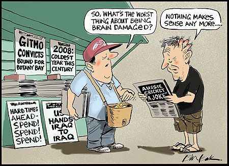 Momentum and direction is half the story. The Other Half is more difficult. (Cartoon by Bill Leak; Courtesy - cagle.com). Click for larger image.
