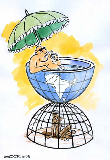 Cartoon by Muhammad Zahoor (Peshawar, Pakistan); 2008 via Cartoon Competition Winners Announced!