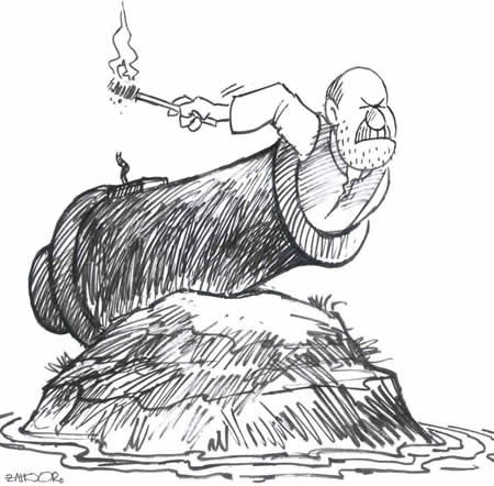Tuesday, April 27, 2004 | Muhammad Zahoor's CARTOON | via Daily Times | Click for image.