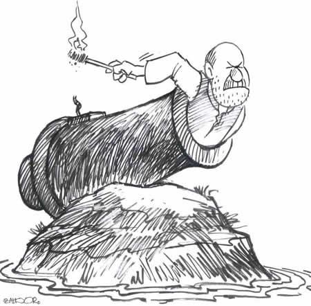 Tuesday, April 27, 2004 | Muhammad Zahoor's CARTOON | via Daily Times | Click for image.