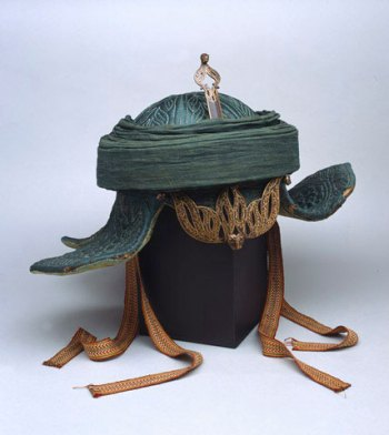 Helmet taken from Tipu Sultan's palace at the capture of Seringapatam in 1799  |  Source & courtesy - nam.ac.uk  |  Click for image.