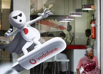 In each market Vodafone bring 'cutting edge' advertising and the latest in financial 'engineering'  |  Image source & courtesy - thisislondon.co.uk  |  Click for image.