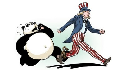 China has great respect for the American model of governance - and frequently blames its own 'stage of development' for various social and political issues.  |  Cartoonist Liu Rui in Global Times on July 27, 2011 21:52; source & courtesy - globaltimes.cn  |  Click for image.