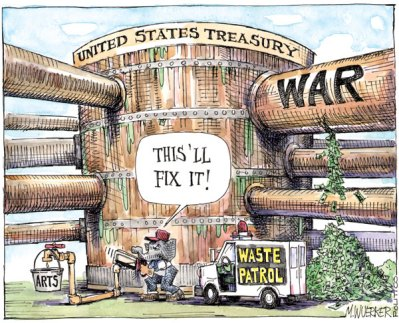 Of course waste by US Govt. does not mean that Indian Govt can also ahead and waste.  But these silly examples of 'It does happen in the US.' has to stop.  |  Matt Wuerker cartoon from .politico.com on January 26, 2011  |  Click for image.