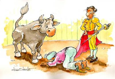 holly cow By Liviu Stanila  on March 16, 2008  | Religion Cartoon | TOONPOOL  |  Click for image.