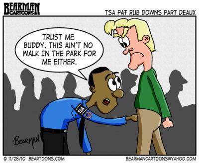 TSA Pat Downs on December 5, 2010 Posted in: Beartoons
