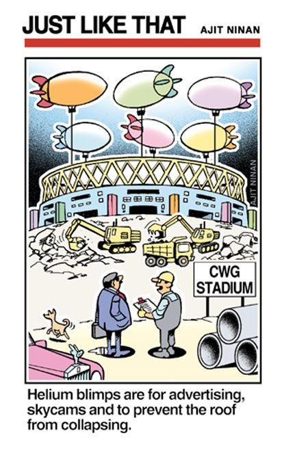 We as taxpeyers and voters want the 'prestige', pomp and splendour, but not also the pleasure of nitpicking.  |  Cartoon by Ajit Ninan; 3 Aug 2010, 1343 hrs IST; source & courtesy - timesofindia.com