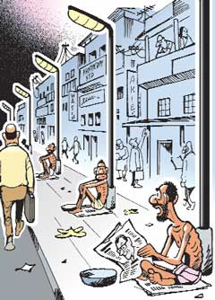 Connecting with the media is illusory power. Connecting with this man will make the difference.  |  Ajit Nina cartoon posted on Monday, June 08, 2009 at 03:35:27 AM  in Mumbai Mirror captioned, 'The idea of 'one-man-one-post' was stolen by the Congress from us.'