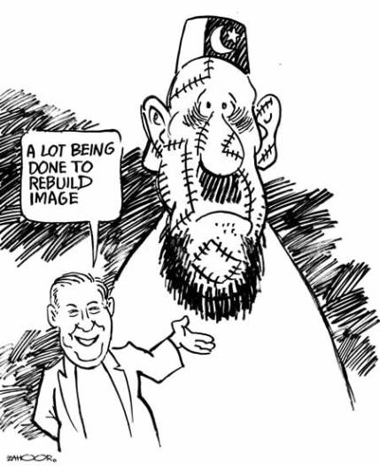Does Pakistan have any legitimate claim to any further territory or people  |  ZAHOOR'S CARTOON on Wednesday, July 13, 2005; source & courtesy: dailytimes.com.pk