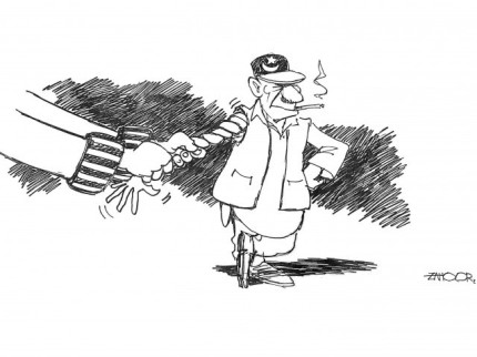 Pakistan's Faustian Deal with British-American clique has harmed Pakistan more than they have been able to harm Pakistan  |  Cartoon by Zahoor on February 15, 2011, in tribune.com.pk