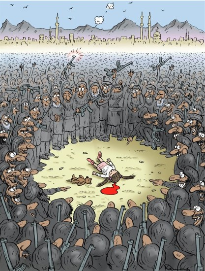 What we have finally after 25 years of American intervention in Afghanistan  |  Cartoon on Oct  14  2012  titled Triumph of Taliban  by Marian Kamensky; source & courtesy - cagle.com