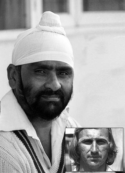 Bishen Bedi - and Inset Image - John Lever with his famous Vaseline strip.  |  Image source & courtesy - intoday.in