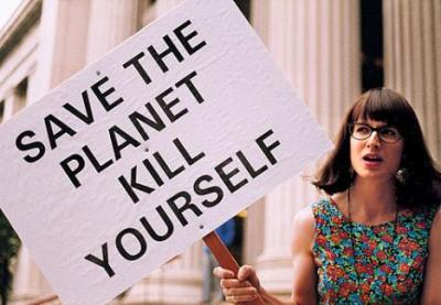 If people are your problem, start by killing yourself.