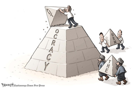 Has Egypt found direction? Again! | Cartoon by by Clay Bennett on Tuesday, February 1st, 2011; source & courtesy – timesfreepress.com