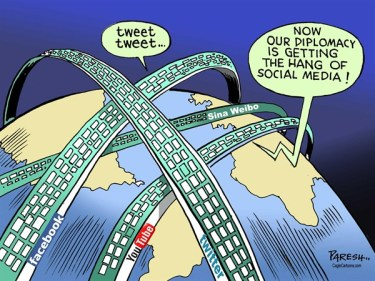 China has funded and promotes its own social media - competing with Western media,  |   By Paresh Nath, The Khaleej Times, UAE  -  10/8/2012 12:00:00 AM| source & courtesy - cagle.com