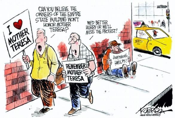 Organized Religion, Organized Charity is Organized Fraud  |  Jeff Koterba Cartoon on August 30, 2010