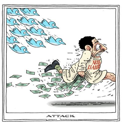NGOs bcked by Western regimes used social media for regime changes.  | By Joep Bertrams, The Netherlands - 1/18/2011 12:00:00 AM; source & courtesy - cagle.com