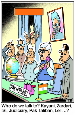 India needs to indulge in show-piece talks for international diplomacy reasons. Who in Pakistan will India talk to? Is anyone in-charge of Pakistan?  |  Ajit Ninan in Pune Mirror on January 15, 2013