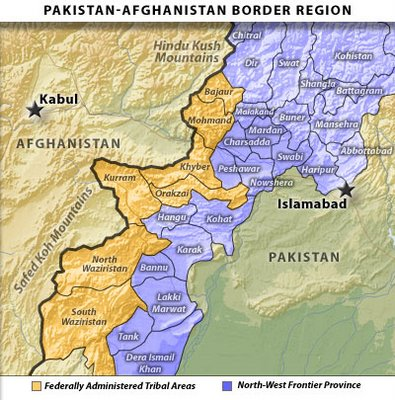 Pakistan-Afghanistan Border Region  |  Image source & courtesy - longwarjournal.org