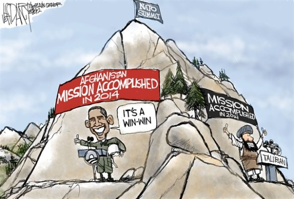 From 1970s, when Pakistan started meddling in Afghan affairs, by how much have Soviet or the American invasions helped Afghanistan?  |  Cartoon By Jeff Darcy, The Cleveland Plain Dealer - 5/21/2012 12:00:00 AM  via PoliticalCartoons.com Cartoon.