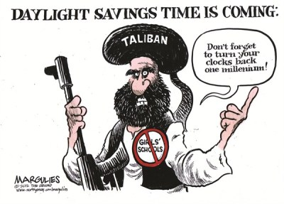 Afghanistan was a much better place one millennium ago - as its agricultural exports, arts and crafts will testify. It is the US-Pakistani involvement from the 70s, which has made Afghanistan into a no-man's land. | Cartoon By Jimmy Margulies, The Record of Hackensack, NJ - 10/11/2012 12:00:00 AM via PoliticalCartoons.com Cartoon.