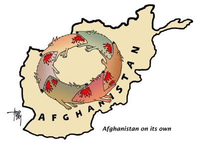 Civil war in Afghanistan is directly the result of Western interventions in the last 40 years.  |  Cartoon by By Arend Van Dam, politicalcartoons.com - 10/24/2012 12:00:00 AM  via PoliticalCartoons.com Cartoon.