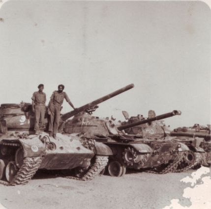 Indian officers /soldiers atop captured Pakistani Patton tanks at Kemkaran. About 100 Patton tanks were left behind by the retreating Pakistan Army. These captured tanks were used to set up Patton Nagar war memorial.