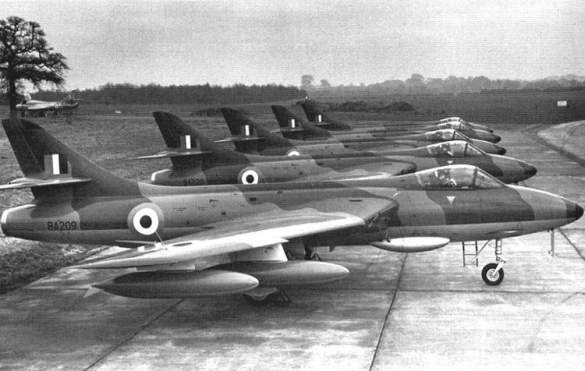 India operated Hawker Hunter Mark 56 (designation for Hunter F.Mark 6) bought from Britain that was phasing out these aircraft.