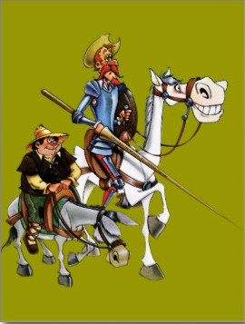 Sancho Panza with Don Quixote from zazzle.com