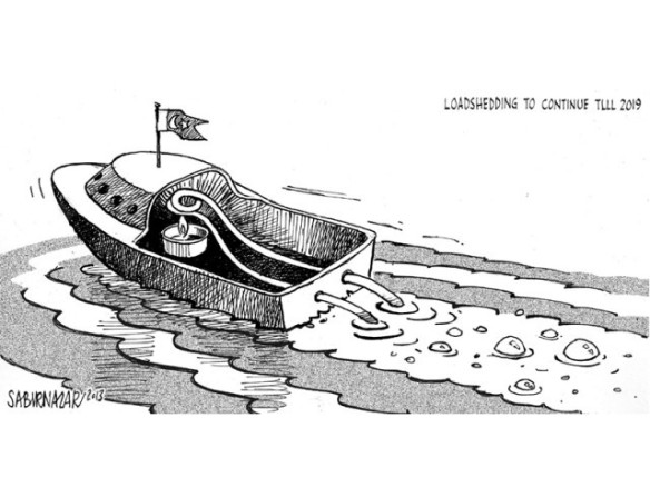 Phuttt, phutt, phut ...! This is a make or break election for Pakistan. Probably the best organized  |  Cartoon by Sabir Nazar on March 30, 2013; image source & courtesy - tribune.com.pk