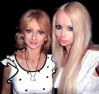 Valeria Lukyanova with mother Irina  |  Image source & courtesy - thesun.co.uk