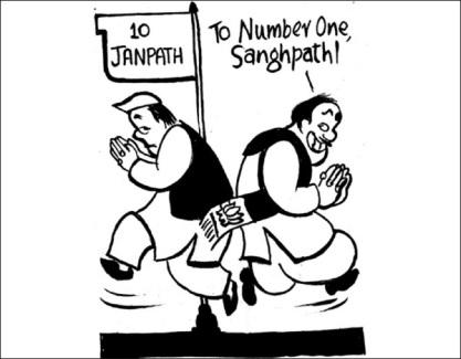 BjP has built  a comprehensive, consistent agenda  |  August 2009 cartoon by Unny; source & courtesy - churumuri.wordpress.com