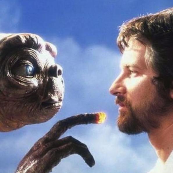 "Spielberg & his ET. ""Originality is the art of concealing your sources"" - Benjamin Franklin"